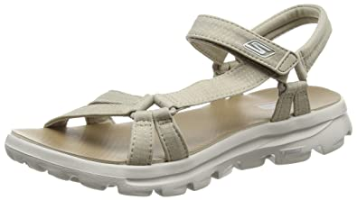 1b12e7d7276 Skechers Women s s Go Walk Move Heels Sandals  Amazon.co.uk  Shoes ...