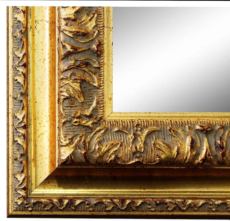 NEU Spiegel Wandspiegel Flur Garderobe Gold Retro Shabby Holz Lecce 3,9