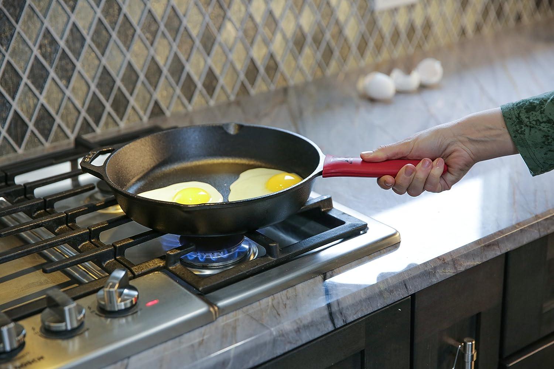 Kitchen Shaq - Estropajo de acero inoxidable (de tipo cota de malla), tamaño XL, 20,3 x 15,2 cm, limpiador para hierro fundido + soporte de silicona ...