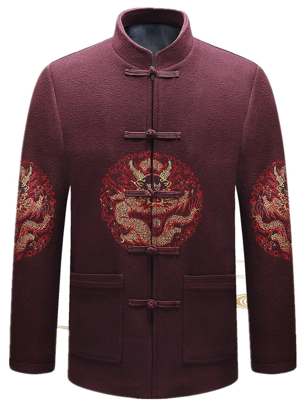 High-end Jacquard Weave Tang Suit Retro Jackets Mens Jackets Mens Coats Business Jackets