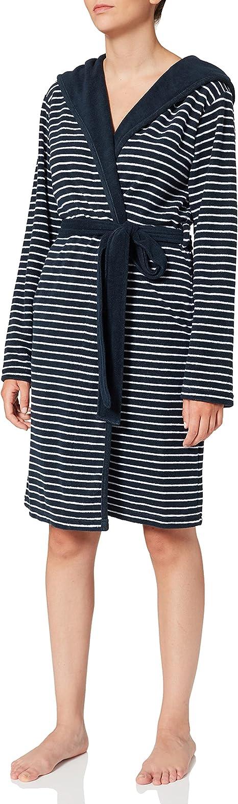 Sale SCHIESSER Damen Bademantel Morgenmantel blau Gr.52 NEU ehemaliger UVP79,95€