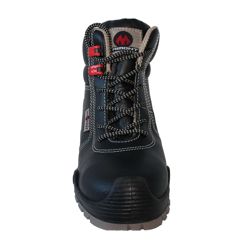 AIMONT - Calzado de protección de Piel para hombre negro 16: Amazon.es: Zapatos y complementos