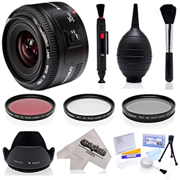 Amazon.com : Yongnuo 35mm f/2 AF HD Full Frame Prime Lens with Hood ...