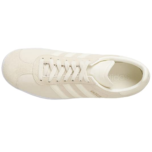 Amazon.com | adidas Originals Mens Gazelle 2 Sneaker, Ecru/Ecru/Legacy, 7.5 M | Fashion Sneakers