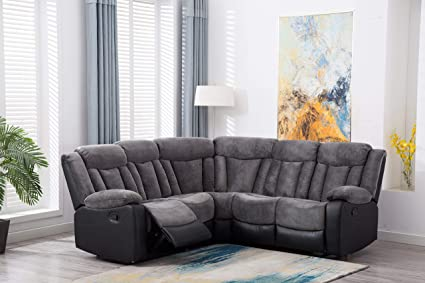 Excellent Amazon Com Casual Classic Look Sectional Sofa Set Gray Two Pabps2019 Chair Design Images Pabps2019Com