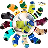 Amazon Price History for:CIEHER 12 Pairs Baby Non-Skid Ankle Cotton Crew Socks with Grip for 9-36 Months Baby Infants, 12 Colors