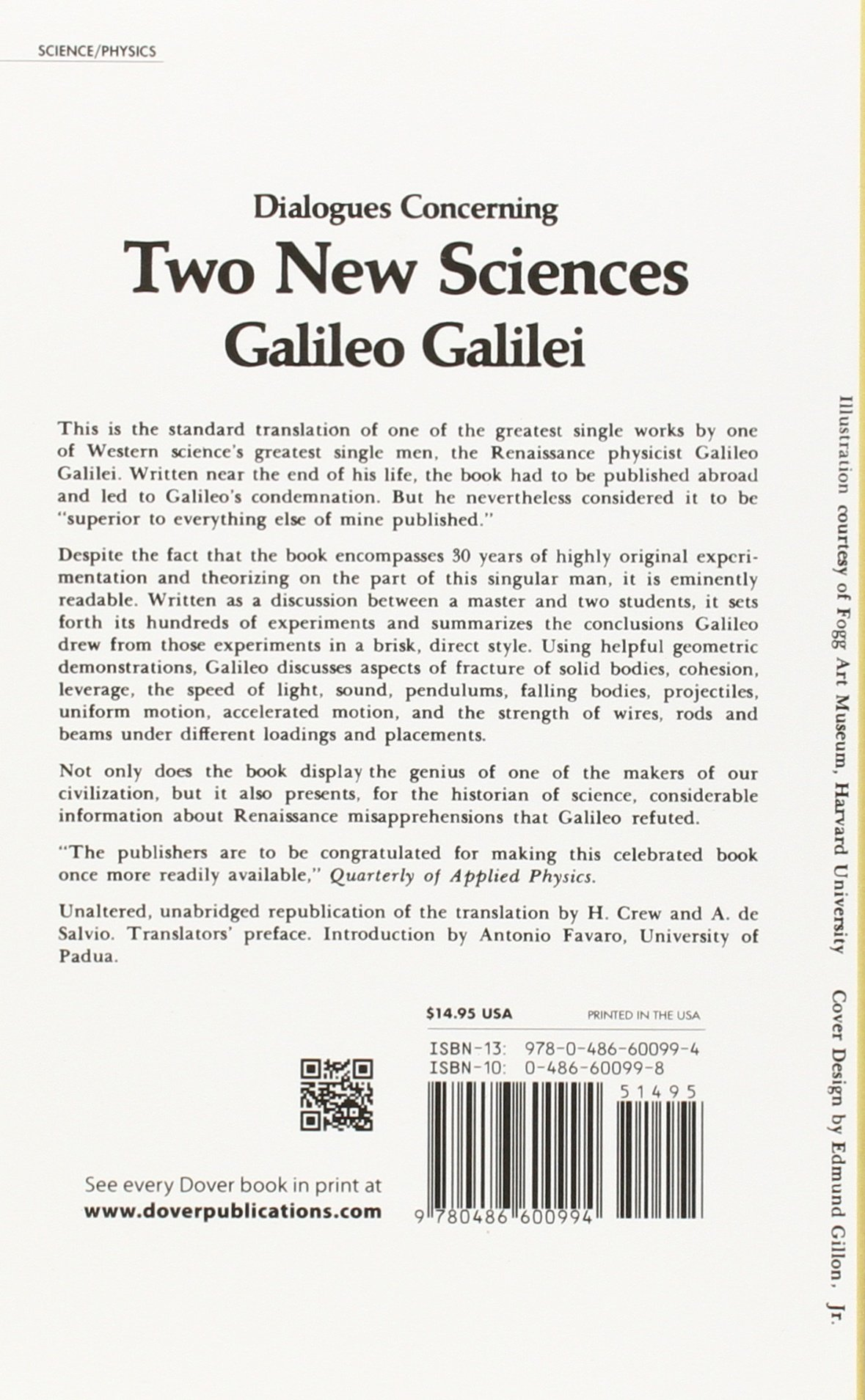 dialogues concerning two new sciences dover books on physics dialogues concerning two new sciences dover books on physics amazon co uk galileo galilei 9780486600994 books