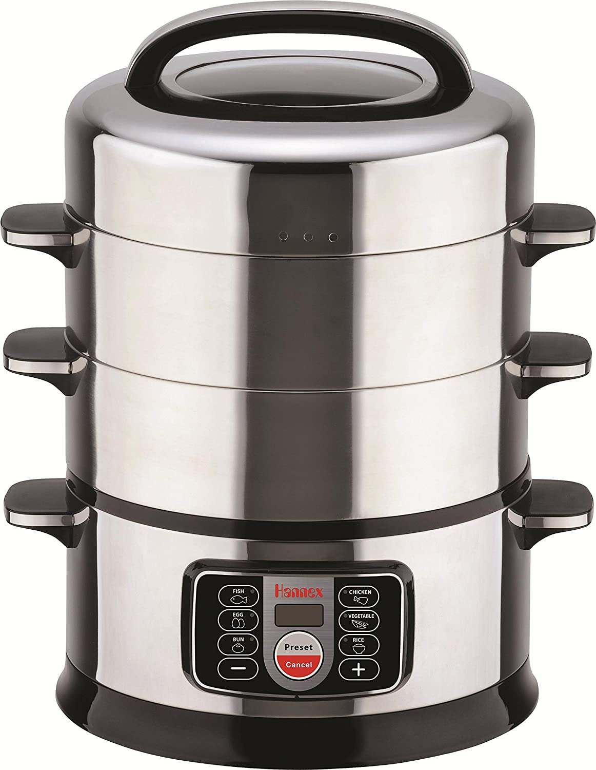 Hannex Electric Food Steamer, 4.3 L, Silver