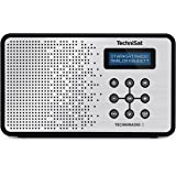 TechniSat TECHNIRADIO 2 Digital-Radio mit Favoritenspeicher, mobiles DAB+ und UKW-Radio, Kopfhöreranschluss, Netz- oder Batteriebetrieb, perfektes Taschenradio für unterwegs, schwarz/silber