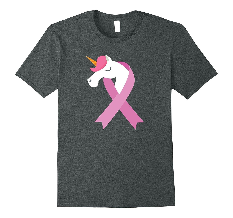Breast Cancer Awareness T-Shirt Unicorn Pink Ribbon Tee-FL
