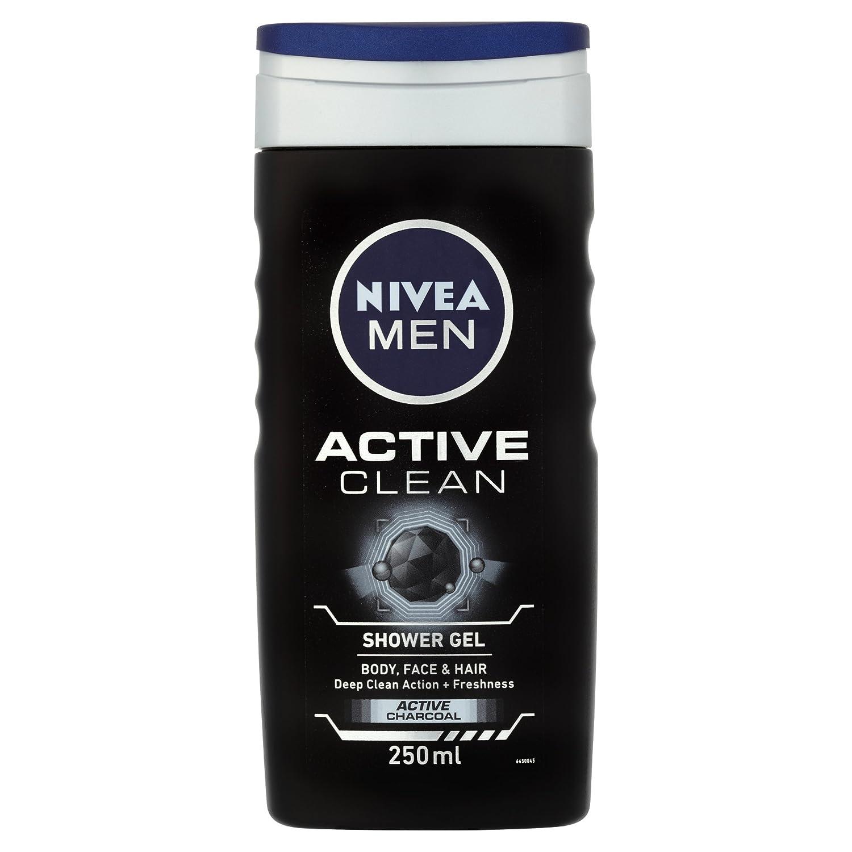 Nivea Men Active Clean Shower Gel Pack Of 6 6 X 500ml Purifying