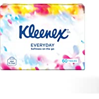 KLEENEX Facial Out of Home Everyday Tissues Soft Pack, Pack of 60