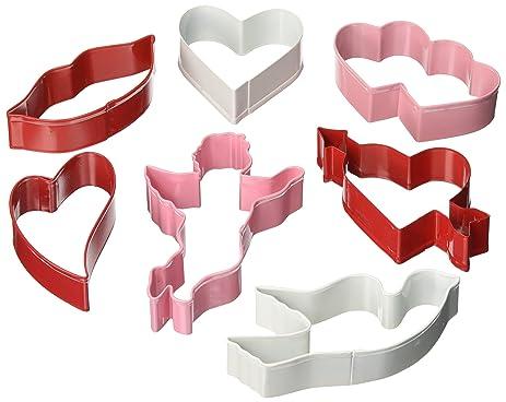 r m valentine 7 piece cookie cutter set - Valentine Cookie