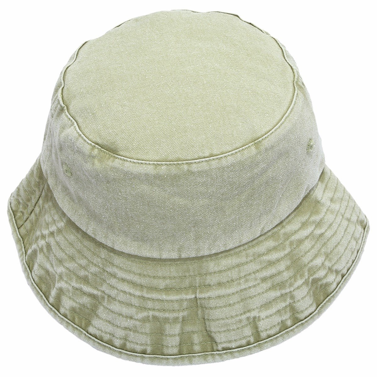 moonsix Bucket Hats for Men Women,Sun Fishing Hunting Flat Top Casual Outdoor Cap,Washed Style,Light Green