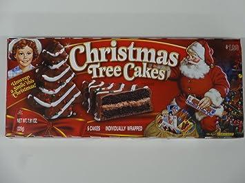Amazon Com Little Debbie Christmas Tree Cakes Chocolate 5 Cakes