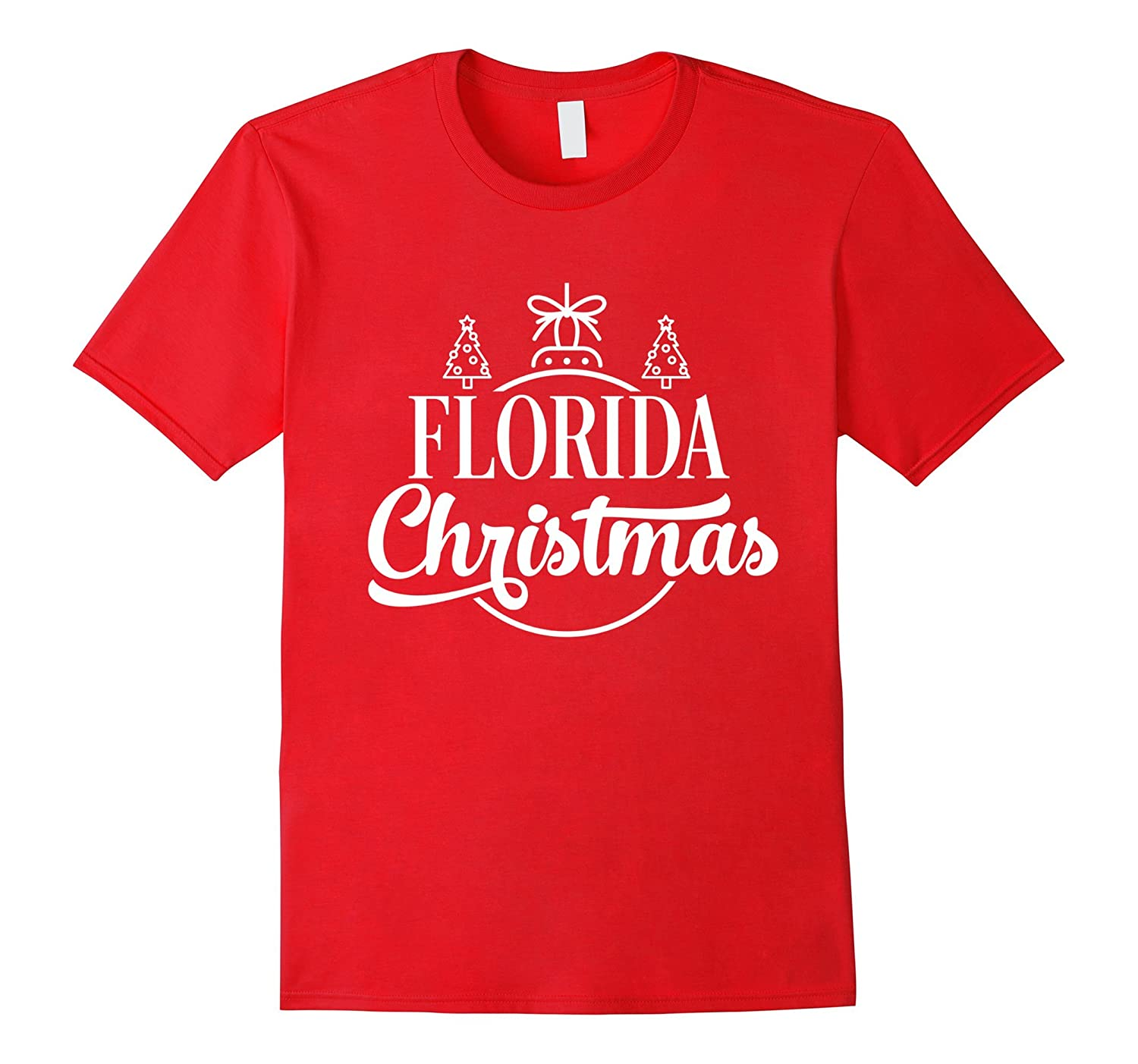 Florida Christmas State Proud Holiday T-Shirt-ANZ