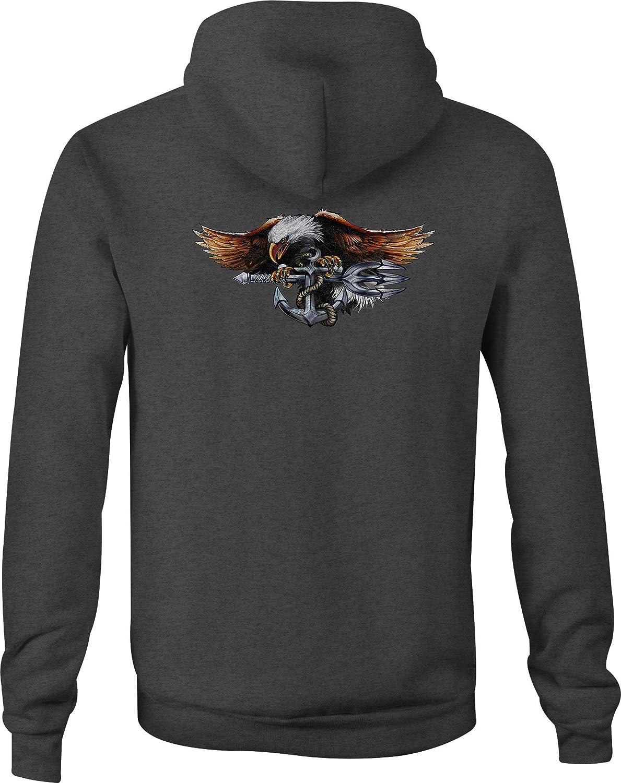 Zip Up Hoodie US Navy Anchor Hooded Sweatshirt for Men