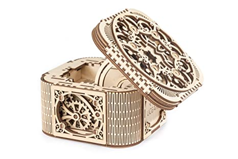Ugears Mechanical Models 3 D Wooden Puzzle Mechanical Treasure Box