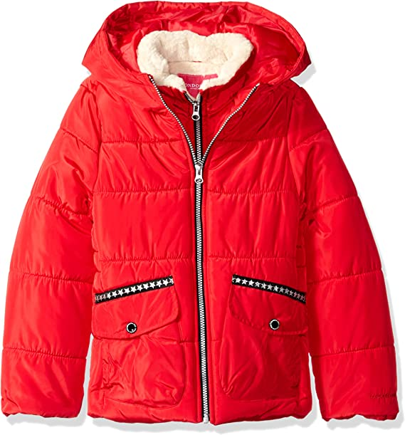 LONDON FOG Girls Heavyweight Expedition Parka with Print Lining