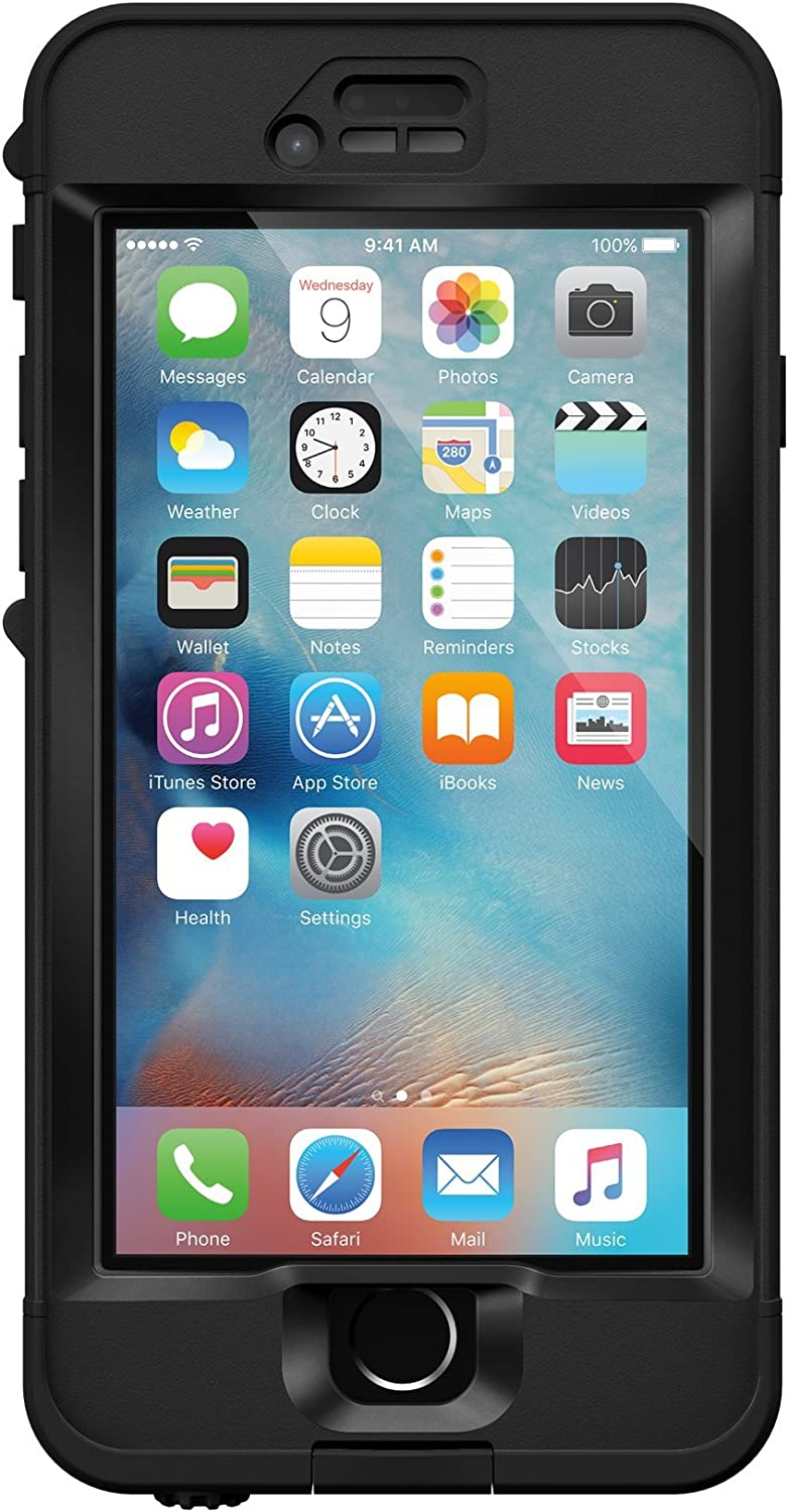 Lifeproof NÜÜD SERIES iPhone 6s ONLY Waterproof Case - Retail Packaging - BLACK