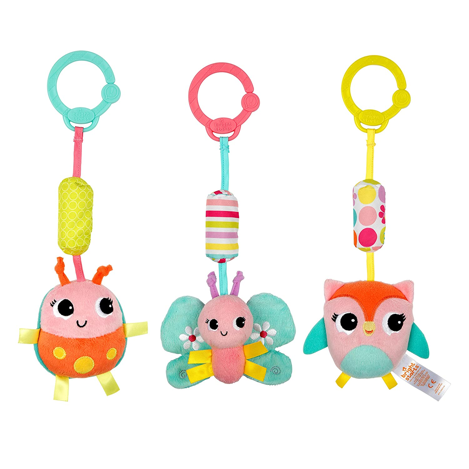 Bright Starts Chime Along Friends Take-Along Toys--Characters May Vary Each Sold Separately Kids II 8674