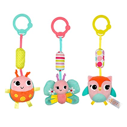 fb6245e86ce Amazon.com  Bright Starts Chime Along Friends Take-Along Toys--Characters  May Vary