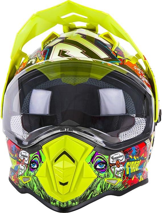 O Neal Motorrad Helm Enduro Adventure Street Ventilationsöffnungen Für Maximalen Luftstrom Und Kühlung Integrierte Sonnenblende Sierra Helmet Crank Erwachsene Multi Größe Xl Sport Freizeit
