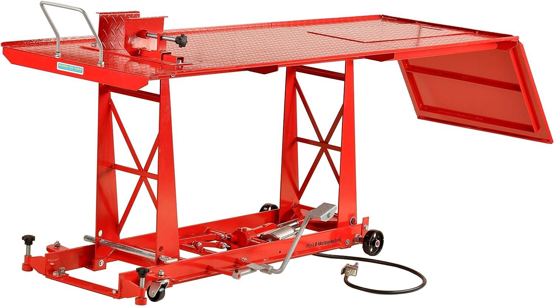 Pro Lift Montagetechnik Plb450 Motorradhebebühne 450kg Mit Fußpumpe Pneumatikantrieb Parallelogramm 01405 Baumarkt