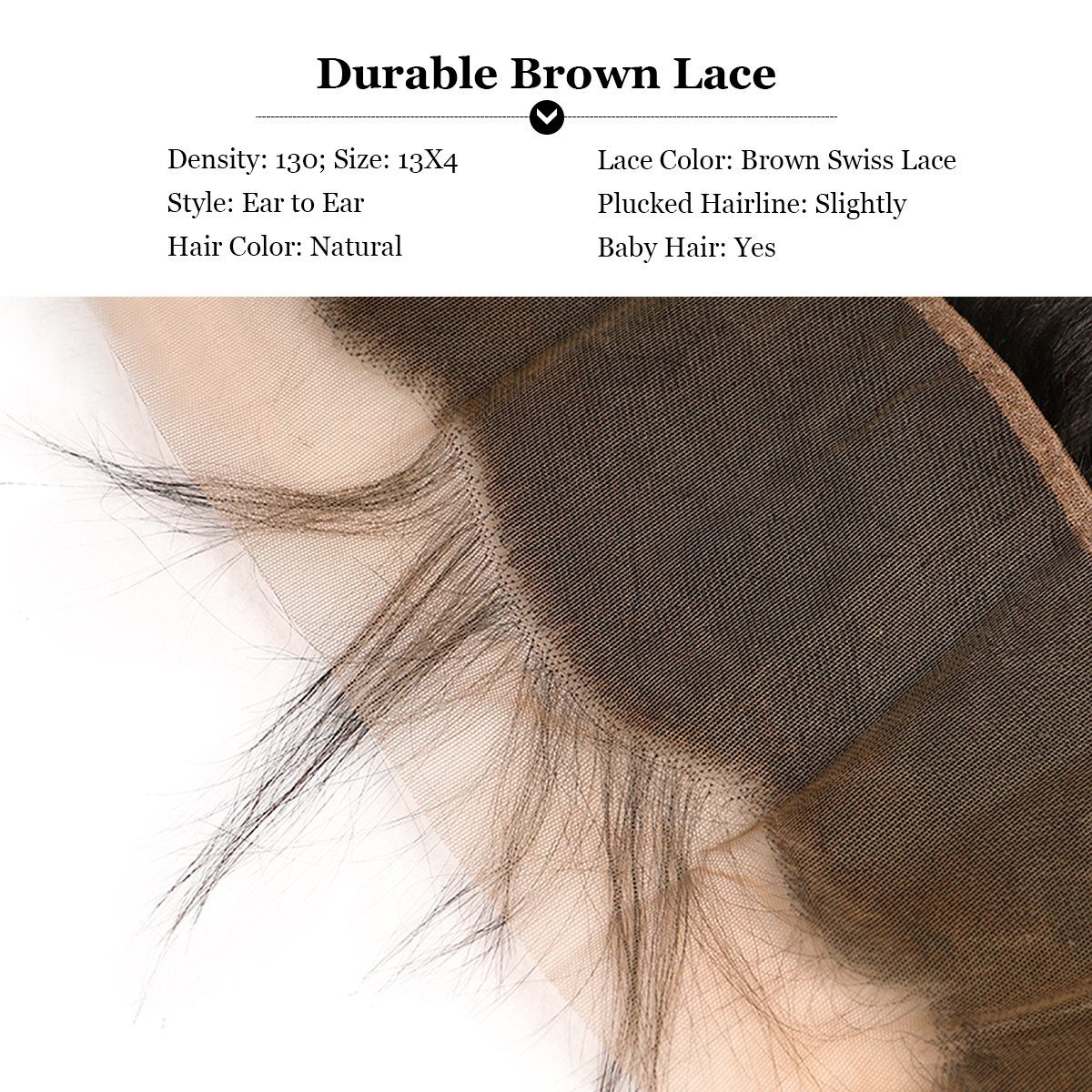 Amazon Puddinghair 13x4 Straight Frontal With Baby Hair 130