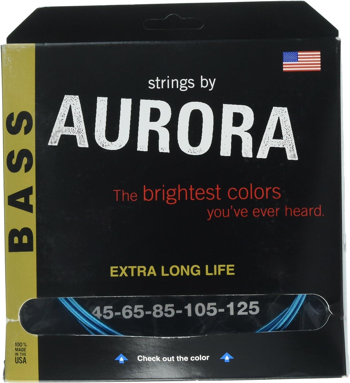 Aurora Premium Color bajo de 5cuerdas, Aqua, 45–125