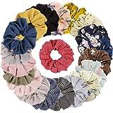 TOBATOBA 20 Pack Hair Scrunchies Chiffon Hair Ties Elastic Hair Bands Hair Ties for Women Halloween,20 colors