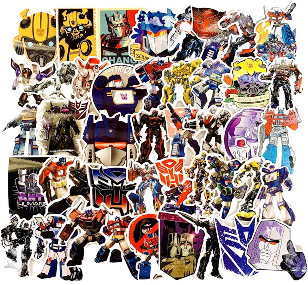 SEBADA 50Pcs Transformers Stickers for Laptop Motorcycle Bicycle Skateboard Luggage Decal Graffiti Patches[No-Duplicate Sticker Pack] HWJ