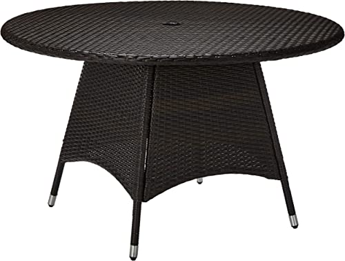 Christopher Knight Home 296768 Kanza Outdoor Brown Wicker Round Dining Table