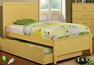Furniture of America Kolora Youth Bed, Yellow, Twin