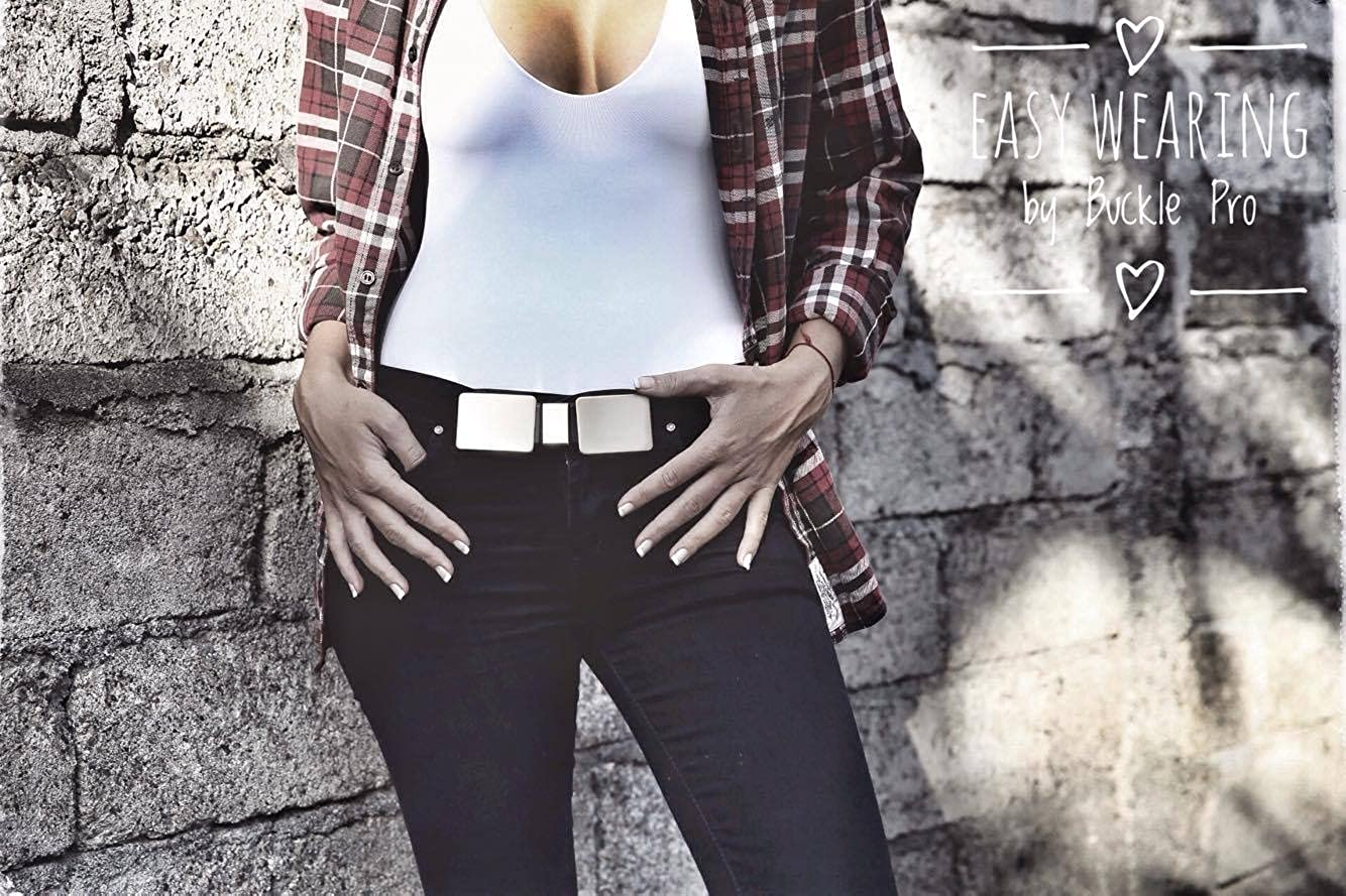 Cutting Edge New Fashion Design No Holes No Belt Buckle Pro Gold No Problem -