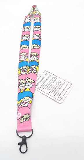 Cute Little Twin Stars Cell Phone Key ID Badge Lanyard Strap