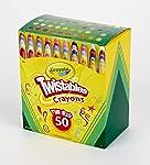 Crayola Mini Twistables Crayons, Amazon Exclusive, Gift for Kids, 50 Count