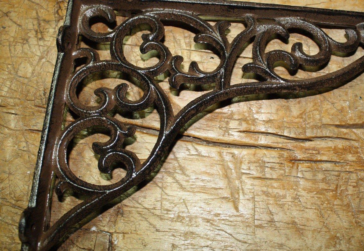8 Cast Iron Antique Style HEAVY DUTY VINE Brackets Garden Braces Shelf Bracket by OutletBestSelling