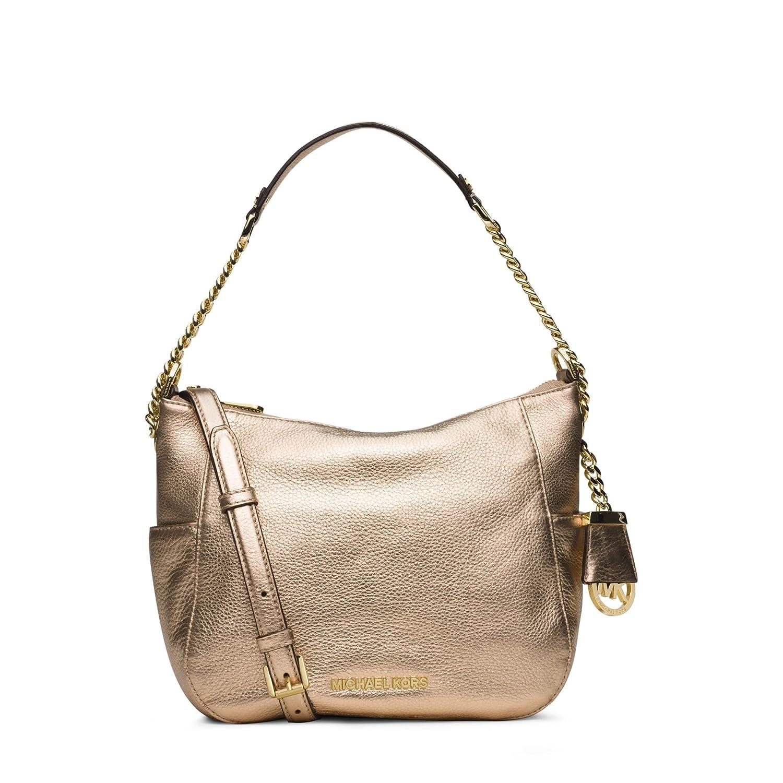 Amazon.com  Michael Kors Gold Chandler Medium Metallic Leather Shoulder Bag   Shoes 4a56508c10910