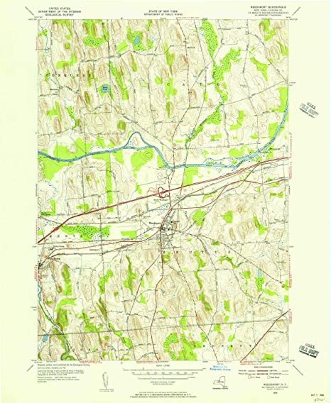 Amazon.com : YellowMaps Weedsport NY topo map, 1:24000 Scale, 7.5 X on