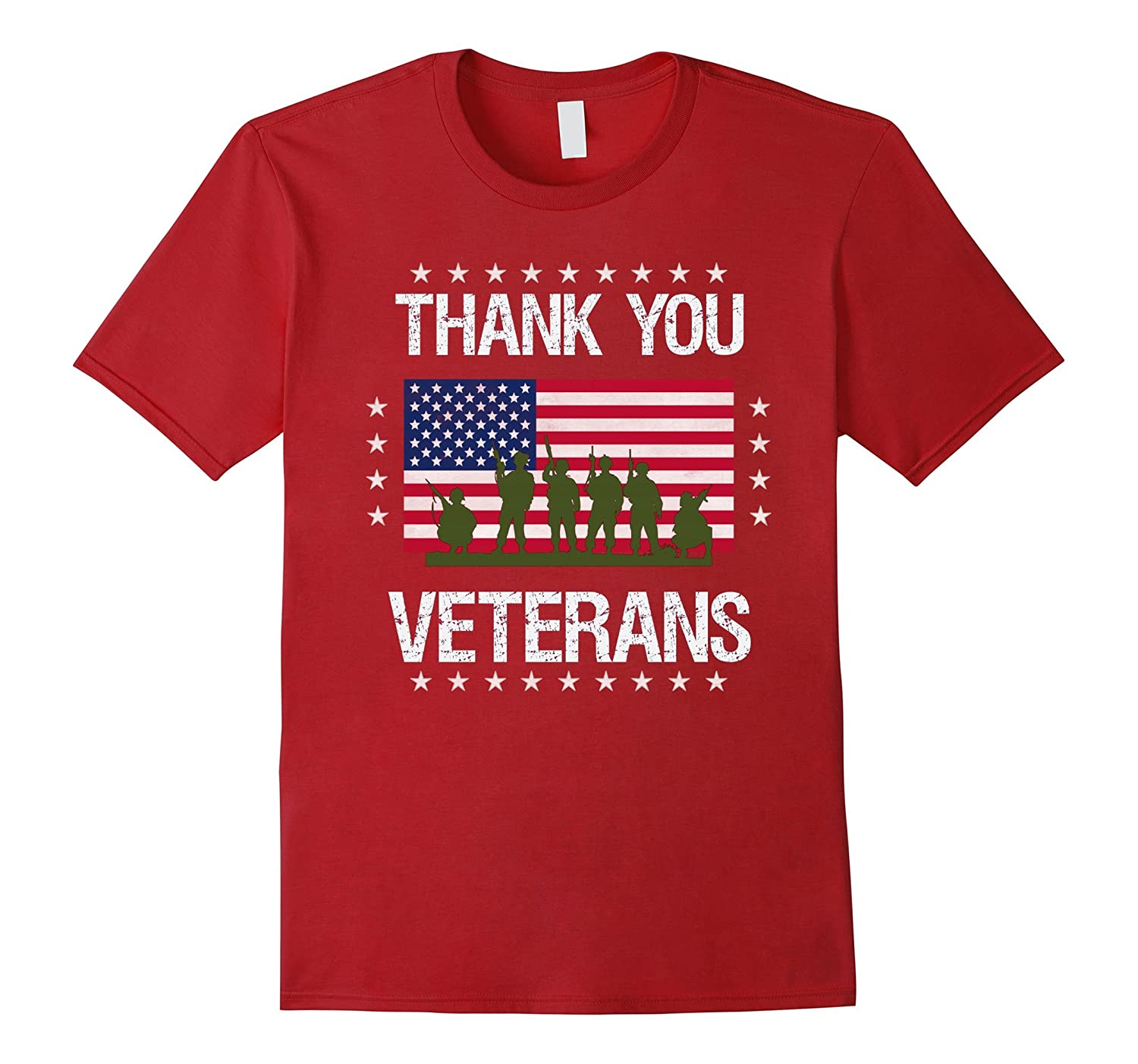 Thank You Veterans Honoring the Armed Forces T-Shirt