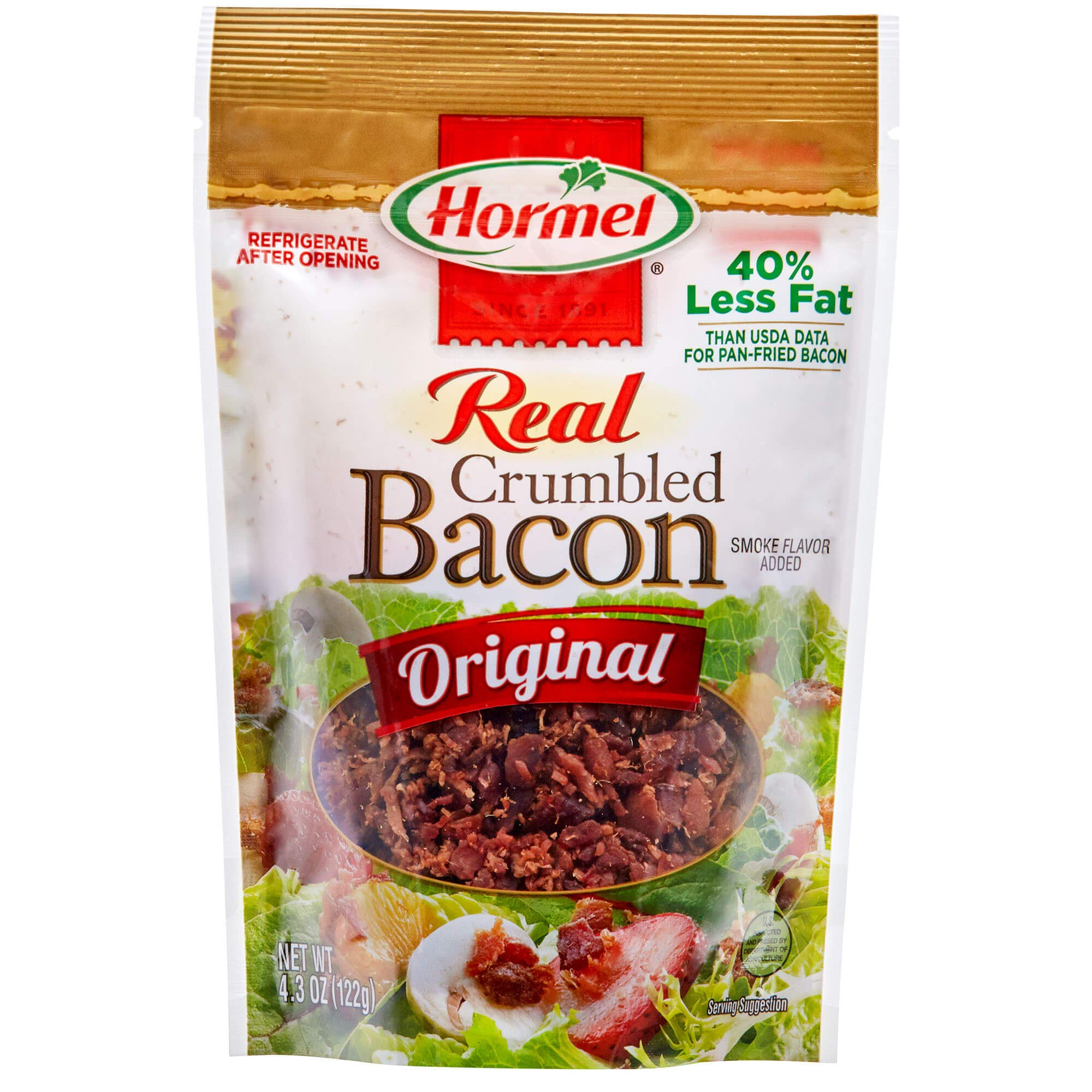 Hormel Premium Crumbled Bacon, 4.3 Ounce Pouch (Pack of 6)