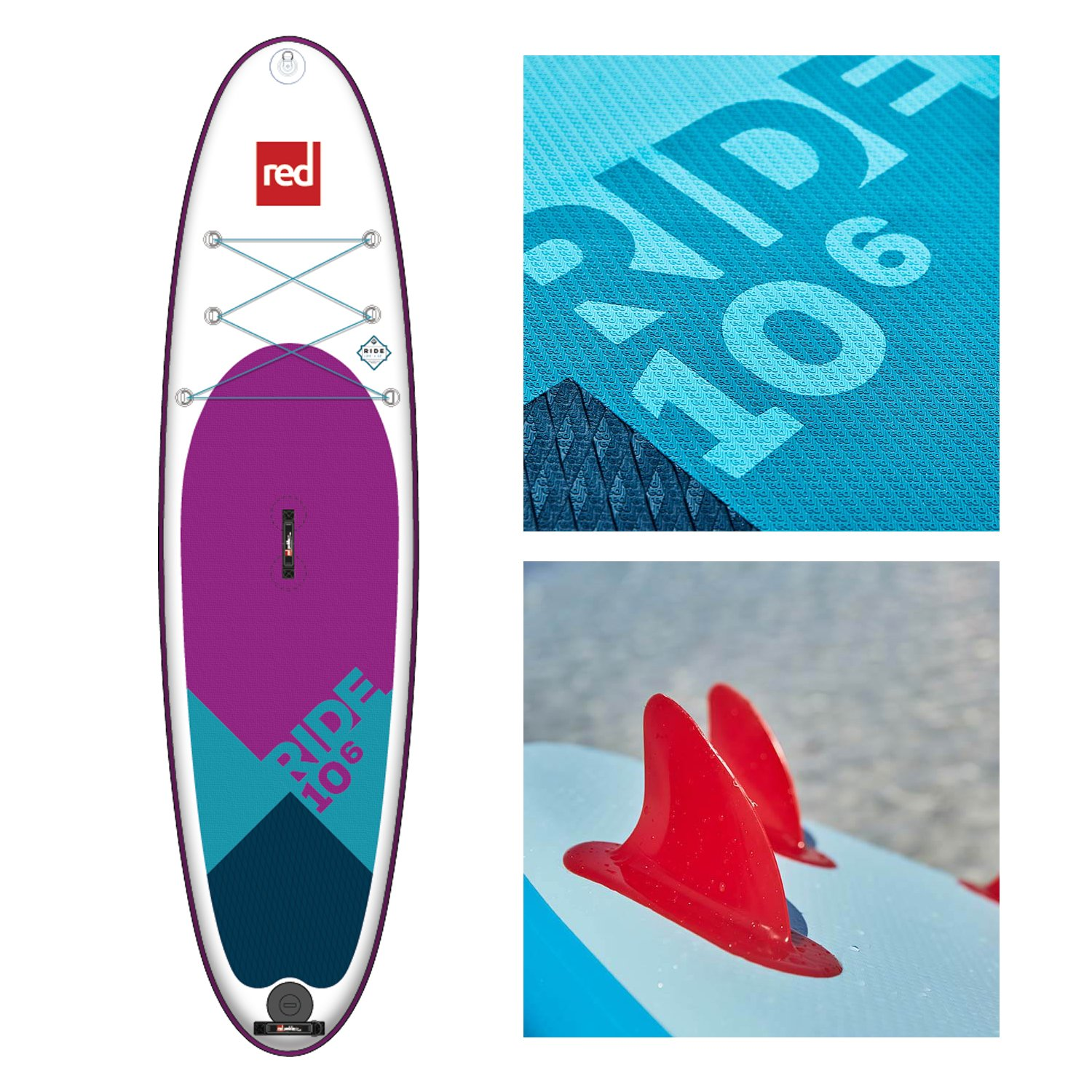 Red Paddle Co 2018 Ride 106 Special Edition Inflatable Stand Up Paddle Board + Bag, Pump, Paddle & Leash: Amazon.es: Deportes y aire libre