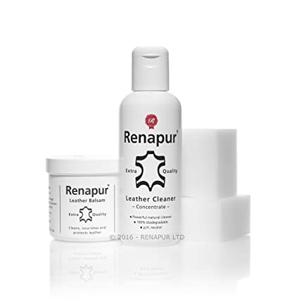 Renapur Clean   Feed Kit - Leather Care Kit  Amazon.co.uk  Car   Motorbike ae5a1768a