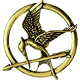 Mahi Unisex Gold Brass The Hunger Games Brooches and Arrow Movie Bird Pins