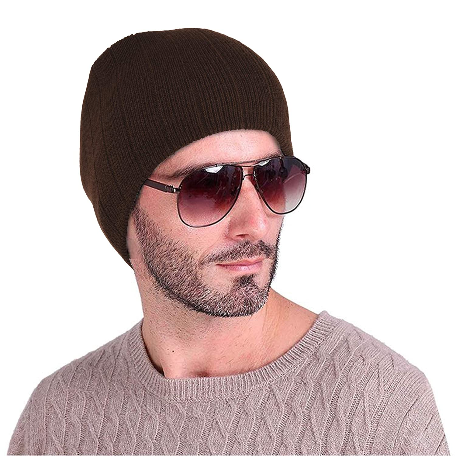 4a0d78fda4da25 DRUNKEN Men's and Women's Ribbed Knit Woollen Beanie Cap (Brown, Free  Size): Amazon.in: Clothing & Accessories