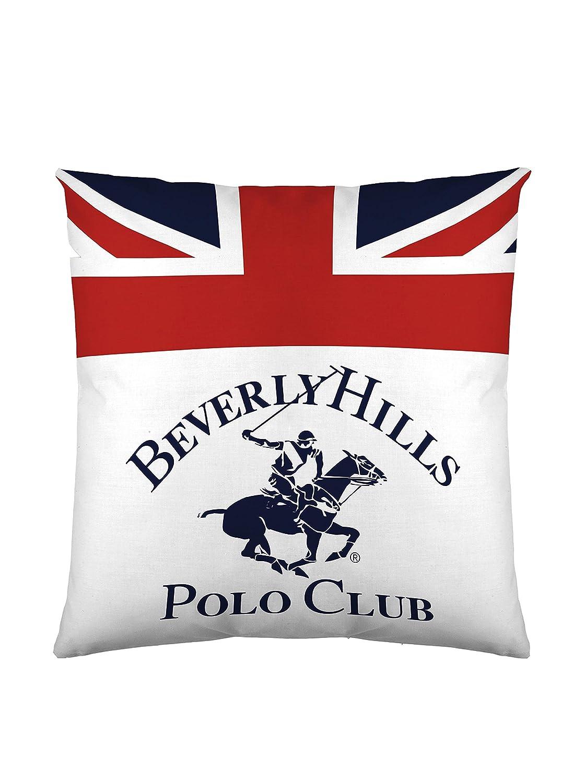Beverly Hills Polo Club Funda De Cojín Madison Blanco/Azul/Rojo 60 ...