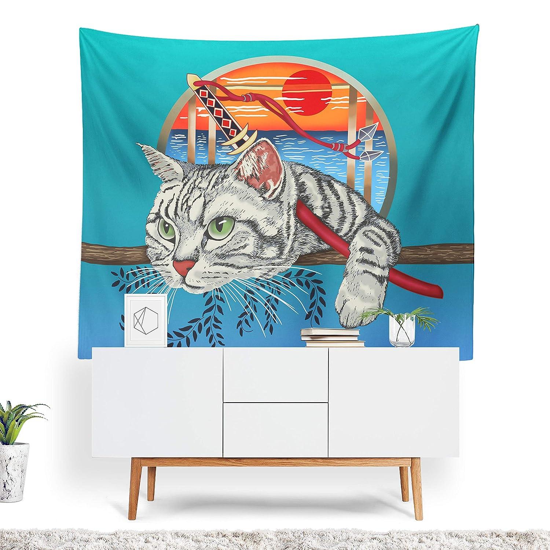 prz0vprz0 V Cat Tapestry, Japanese Decor, Cat Wall Art ...