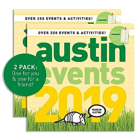Austin Events Calendar 2019 Amazon.: Austin Events 2019 Wall Calendar (Pack of 2) : Office