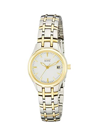 2d226d18eca0de Buy Citizen Women's EW1264-50A Eco-Drive Silhouette Two-Tone Stainless  Steel Watch Online at Low Prices in India - Amazon.in